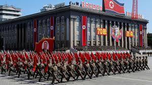 The country's foundation day parade took place at midnight, after a long time, dictator Kim Jong was also seen